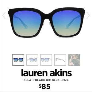 Lauren Akins Ella + Black Blue Ice Sunglasses
